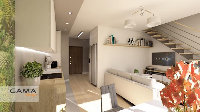 Gama Design aranzacja wnetrz koncepcja salon kuchnia 1.5-kopia