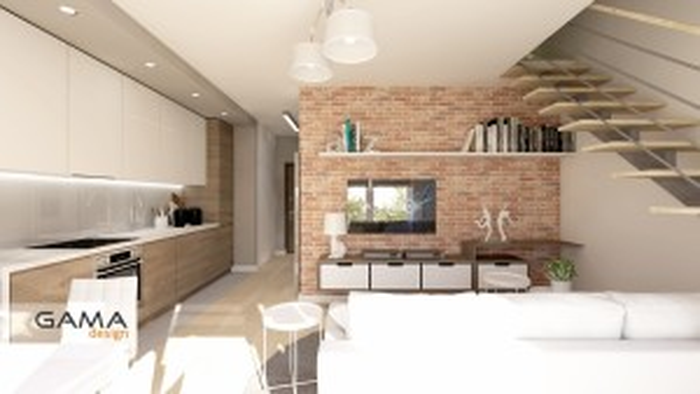 Gama Design aranzacja wnetrz koncepcja salon kuchnia 2.1-kopia