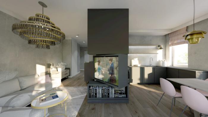 Gama Design aranzacja wnetrz salon kuchnia 1