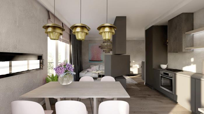 Gama Design aranzacja wnetrz salon kuchnia 2