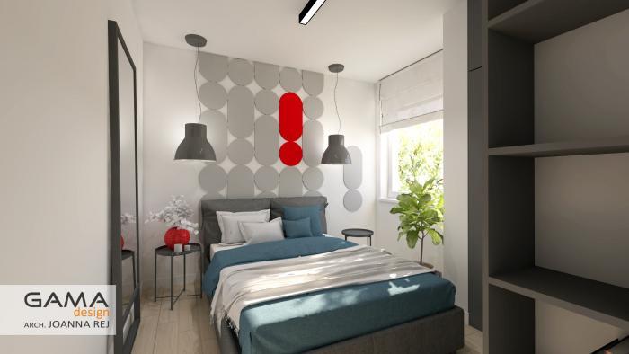 gama design aranzacja wnetrz projekt sypialnia 1