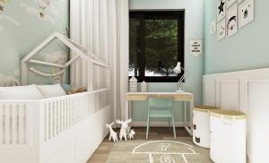 Gama Design, pokój dziecka, pokoik dziecka, projekt pod klucz, wykończenie pod klucz, projekt pod klucz Warszawa, mala lazienka, mała łazienka,