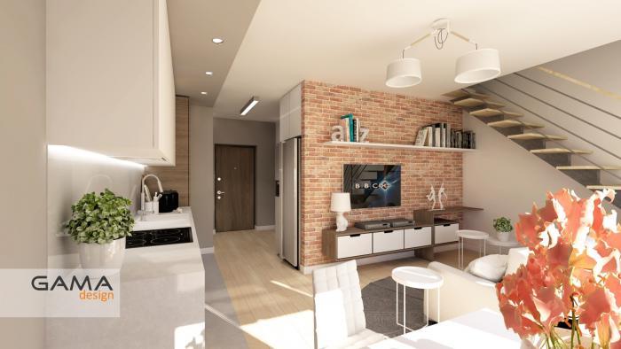 Gama Design aranzacja wnetrz koncepcja salon kuchnia 2.3-kopia