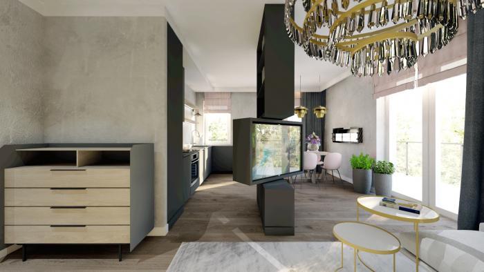 Gama Design aranzacja wnetrz salon kuchnia 3