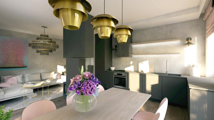 Gama Design aranzacja wnetrz salon kuchnia 4
