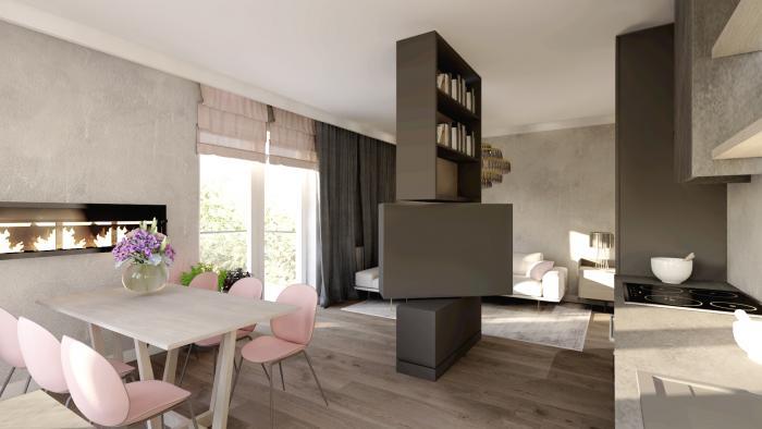 Gama Design aranzacja wnetrz salon kuchnia 5