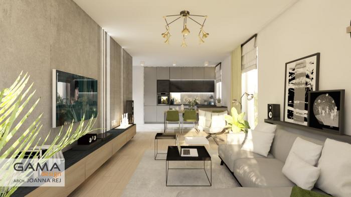 gama design aranzacja wnetrz projekt salon 1