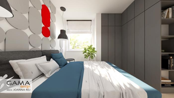 gama design aranzacja wnetrz projekt sypialnia 2